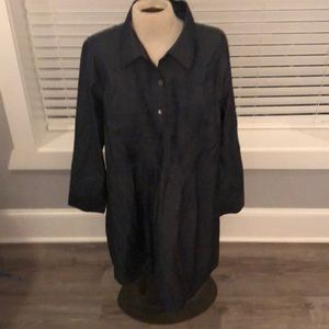 Dark chambray dress